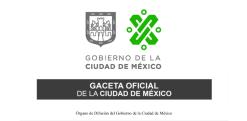 GACETA OFICIAL CDMX