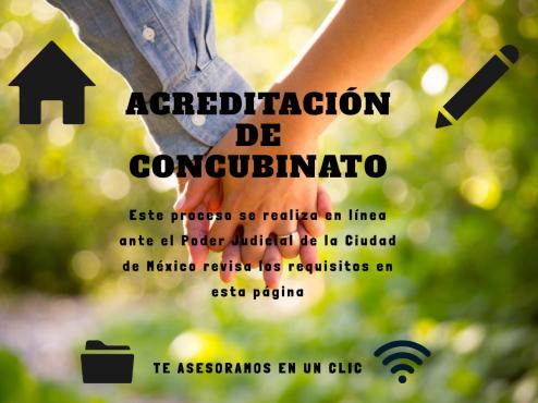 Acreditación concubinato en línea CDMX
